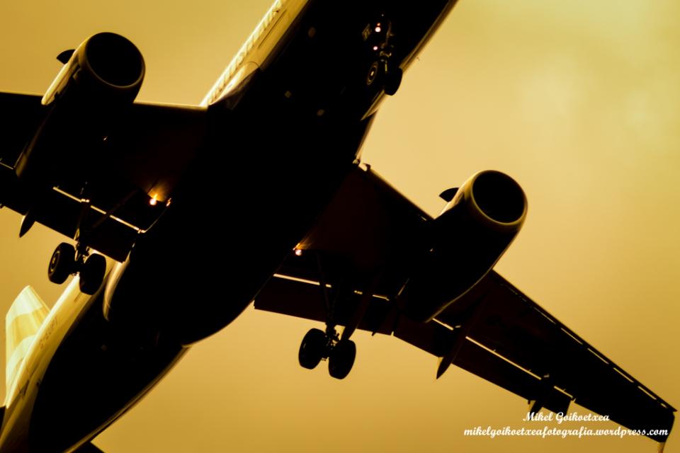 Vuelo 1788 llegando al aeropuerto de Bilbao.
